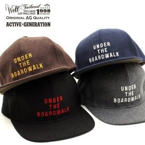ウェルテイラード Well-Tailored 帽子 キャップ BBキャップ メルトン ウール 刺繍 ベースボールキャップ フリーサイズ メンズ レディース ブランド (07-kkc193)|rockingchair2822