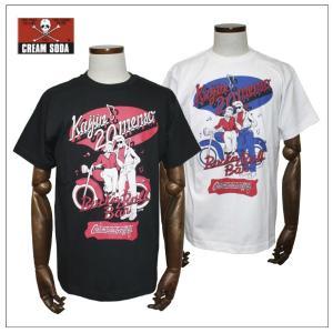 クリームソーダ   CS50th Kaijin20menso Tシャツ ブラック/ホワイト CREAM SODA|rockinkojima-ya