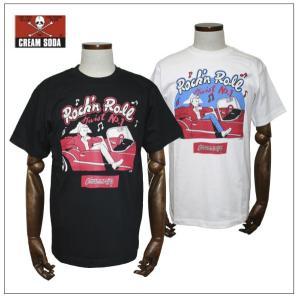 クリームソーダ   CS50th Twist No.1Tシャツ ブラック/ホワイト CREAM SODA|rockinkojima-ya
