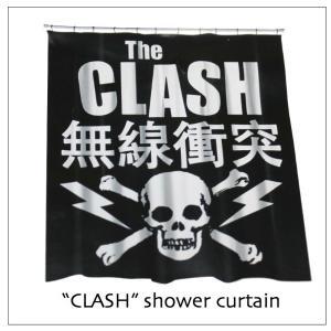 クラッシュ シャワーカーテン 無線衝突 THE CLASH|rockinkojima-ya