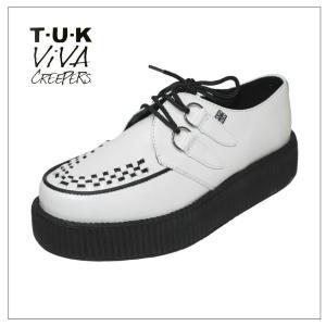 TUK Viva Creepers Monde Sole V6803ホワイト|rockinkojima-ya
