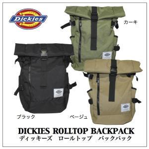 送料無料!Dickiesディッキーズ ロールトップ バックパック 3カラー rockinkojima-ya