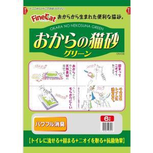 常陸化工 おからの猫砂グリーン6L 猫用 ×4入【送料無料】|rocky