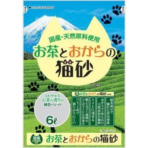 常陸化工 お茶とおからの猫砂 猫用 6Lx4入 rocky