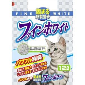 常陸化工 ファインホワイト 固まる紙製猫砂 猫用 12Lx5入 rocky