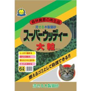 常陸化工 スーパーウッディー 大粒 猫用 6Lx6入 rocky