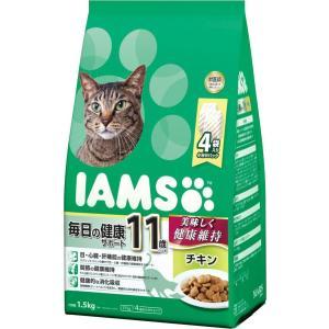 お取寄せ品 アイムス 国内正規品 11歳以上 毎日の健康サポート チキン シニア猫用 1.5kg|rocky
