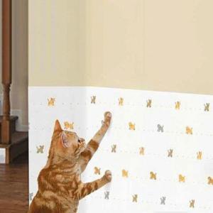 【お取寄せ品】明和グラビア 犬猫ツメ傷保護シート(吸着タイプ)46×90cm◆  動物柄【送料無料】|rocky
