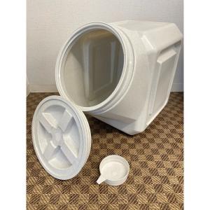 ガンマプラスチックス フードコンテナ スタッカブル  40# 容量約18kg【送料無料】|rocky|05