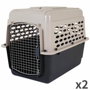 ペットメイト バリケンネル 30-50lbs (13.5-22.7kg) 犬用 トープ/ブラック×2入【送料無料】|rocky