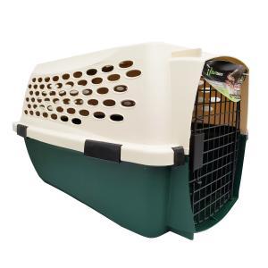 ペットメイト ラフマックス ケンネル オフホワイト/グリーン 4.5-9kg 10-20LBS 小型犬・猫用 ×4入【送料無料】|rocky