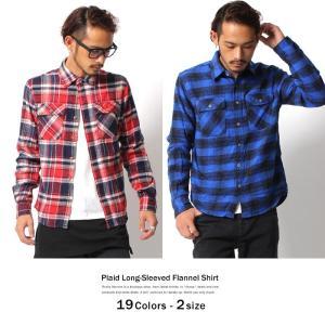 ネルシャツ メンズ チェックシャツ フランネル オンブレ タータン ウインドペン 長袖|rockymonroe