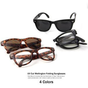 サングラス ウエリントン ウェイファーラー風 折りたたみ 折り畳み 眼鏡|rockymonroe