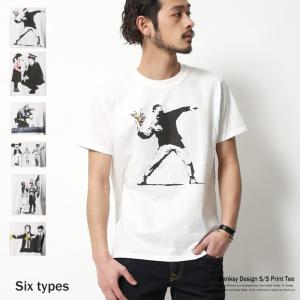 バンクシー banksy プリントTシャツ メンズ 半袖 グラフィック ロゴ キャラクター