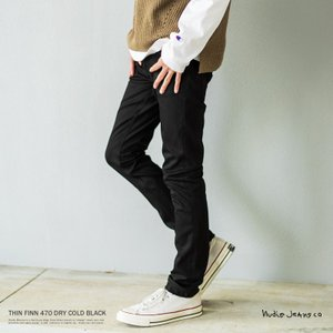 【Nudie Jeans/ヌーディージーンズ】THIN FINN DRY COLD BLACK/11...