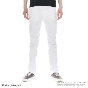 Nudie Jeans ヌーディージーンズ メンズ ストレッチ スリム LEAN DEAN リーンディーン CLEAN WHITE 112528