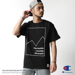 Champion プリントTシャツ メンズ チャンピオン 半袖 丸胴 クルーネック rockymonroe