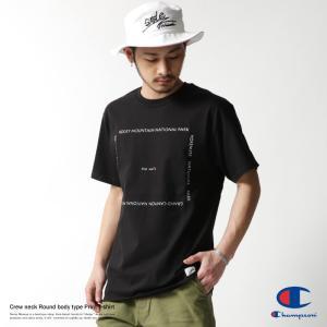 Champion プリントTシャツ メンズ チャンピオン 半袖 丸胴 クルーネック 英字 rockymonroe