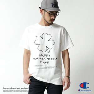 Champion プリントTシャツ メンズ チャンピオン 半袖 丸胴 クルーネック クローバー rockymonroe