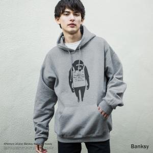 バンクシー Banksy パーカー メンズ レディース プルオーバー 裏起毛 スウェット ドロップシ...