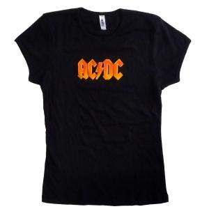 AC/DC Babydoll LOGO バンドTシャツ レディースサイズ 正規品|rockyou