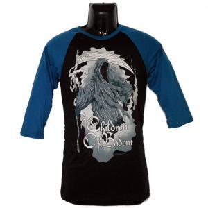 CHILDREN OF BODOM ラグランTシャツ PAINTED REAPER 正規品 バンドTシャツ|rockyou