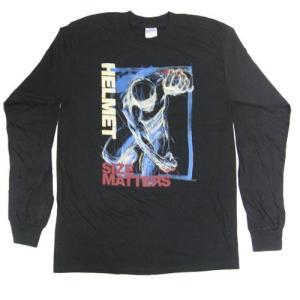 HELMET 長袖Tシャツ SIZE MATTERS 正規品メタルTシャツ|rockyou