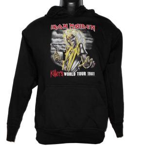 IRON MAIDEN パーカー 1981 WORLD TOUR Hoodie 正規品バンドパーカー メタルパーカー|rockyou