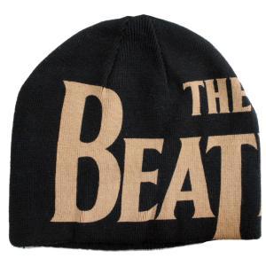 THE BEATLES ザ・ビートルズ ニット帽 LOGO Reversible 正規品|rockyou