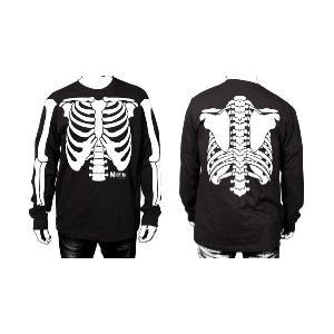 MISFITS 長袖Tシャツ Glow In The Dark Skeleton 正規品バンドTシャツ|rockyou