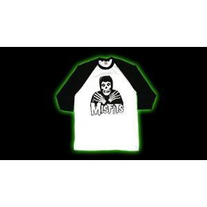 MISFITS  ラグランTシャツ Crossed Hands Baseball Jersey 正規品バンドTシャツ|rockyou