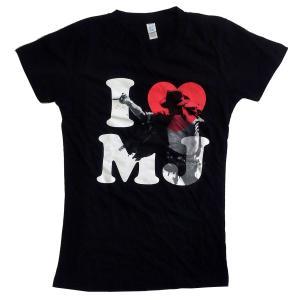 MICHAEL JACKSON  Tシャツ レディースサイズ I HEART MJ 正規品バンドTシャツ|rockyou