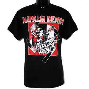 NAPALM DEATH Tシャツ NAZI PUNKS FUCK OFF 正規品|rockyou
