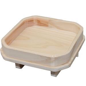 二本足ひのき三宝 5号(約15.5cm×15.5cm×6.2cm) お正月用の鏡餅台 神具 三方 roco