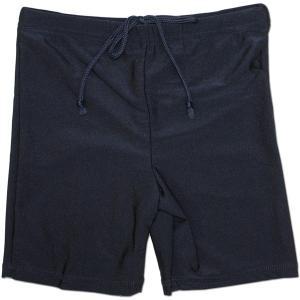 男子セミロング丈スクール水着パンツ ネイビー 855458-s 130 140|roco
