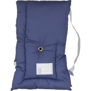 日本製防災クッション [ブルー無地] 約30cm×45cm Sサイズ 幼児から小学生低学年向け 防災頭巾 防災ずきん 子供用 こども用 青|roco