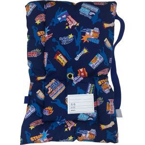 日本製防災クッション [バスケットボールネイビー] 約30cm×45cm Sサイズ 幼児から小学生低学年向け 防災頭巾 防災ずきん 子供用 こども用|roco