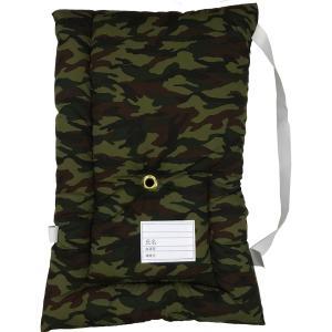 日本製防災クッション [カモフラージュ] 約30cm×45cm Sサイズ 幼児から小学生低学年向け 防災頭巾 防災ずきん 子供用  こども用 迷彩|roco