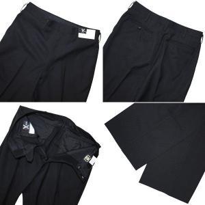 富士ヨット学生ズボン SERIES X(シリーズエックス) ノータックスラックス GTX4520B 85〜110 ポリエステル100%  黒 ブラック 丸洗い可 明石被服興業 学生服|roco|02