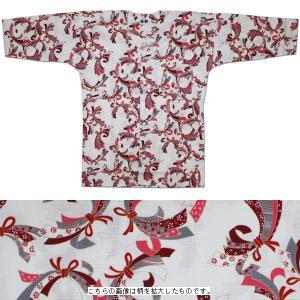 お祭用品/肉襦袢 鯉口シャツ のしめ 赤ラメK-17 7号 (子供用)|roco