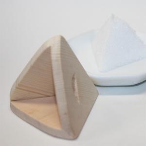 木曽桧製 三角錐盛り塩固め器 roco