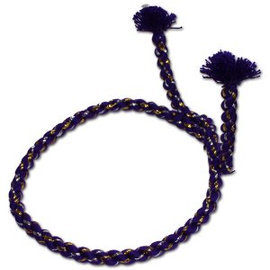 お祭用品 中太結上鉢巻 紫 ラメ付き|roco