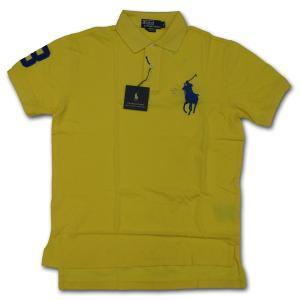 PoloRalphLauren(ラルフローレン)ビッグポニー 鹿の子半袖ポロシャツ カスタムフィット YELLOW/BLUE|roco