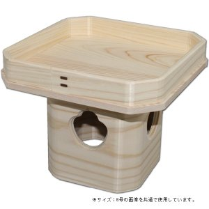 吉野桧使用 ひのき三宝 4号(高さ10.5cm/巾12.5×12.5cm) お正月用の鏡餅台 神具 三方 roco