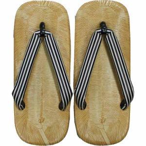お祭用品 ライト底 雪駄 縞 サイズ:L (大人用) せった/セッタ/草履/履物|roco