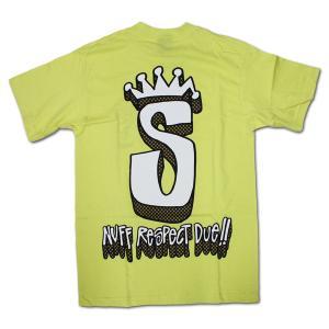 STUSSY(ステューシー) 半袖Tシャツ S-Crown Respect ライム|roco