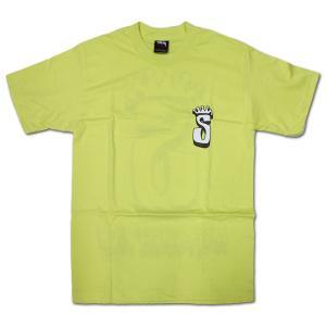 STUSSY(ステューシー) 半袖Tシャツ S-Crown Respect ライム|roco|02