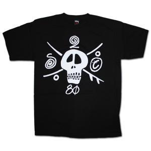 STUSSY(ステューシー) 半袖Tシャツ S2c Skull ブラック|roco