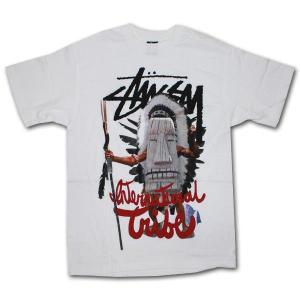 STUSSY(ステューシー) 半袖Tシャツ WARRIOR ホワイト|roco