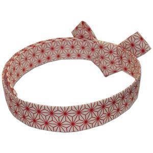 お祭用品 千代結び鉢巻 麻の葉|roco
